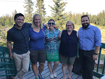 NT 2016-2017 Executive Committee: far left President - Nick Leeson, Branch Administrator Alaina Botham, Past President Tricia Ralph, Secretary Treasurer Kelly McLaughlin, Vice-President Chris Buchanan